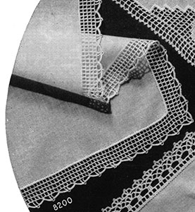 Handkerchief Edging #8200 Pattern