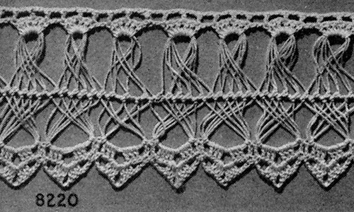 Hairpin Lace Edging #8220 Pattern