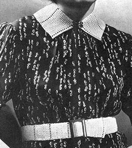 Collar and Belt Set Pattern #23