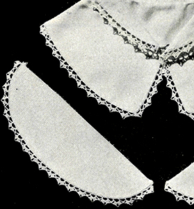 Collar and Cuff Set Edging Pattern #24C