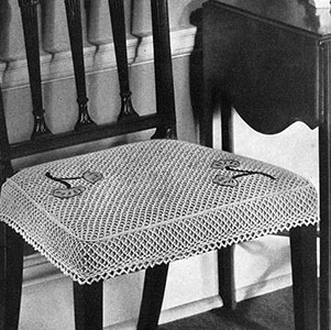Slip Cover for Chair Seat Pattern #7099