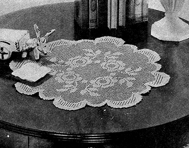 Rose Bowl Doily Pattern #7111