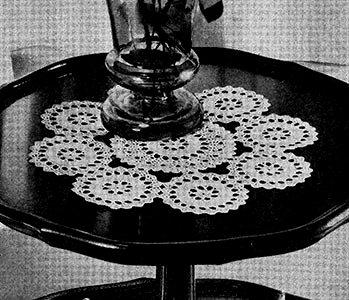 Star Wheel Doily Pattern #7115