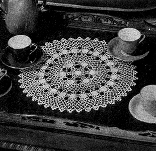 Irish Crochet Doily Pattern #7119