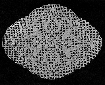 Occasional Filet Doily Pattern #7122