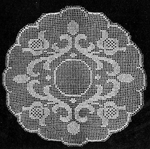 Occasional Filet Doily Pattern #7134