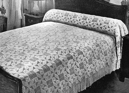 Popcorn Whirl Bedspread Pattern #645