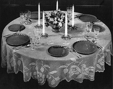 Round Table Tablecloth Pattern #7141