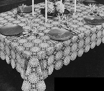 Lucky Star Tablecloth Pattern #7144