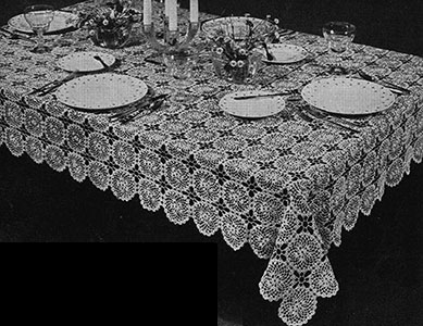 Spinning Wheel Tablecloth Pattern #7148
