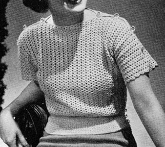 Jiffy Crochet Pullover Pattern #1176