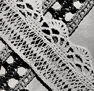 Hairpin Lace Edging Pattern #8310