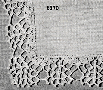 Handkerchief Edging Pattern #8370