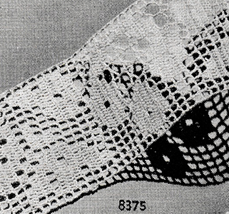 Filet Crochet Insertion Pattern #8375
