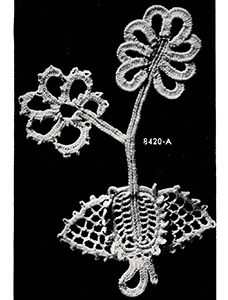 Stem and Leaf Motif Pattern #8420A