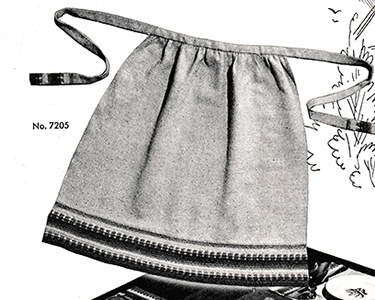 Match Makers Hostess Apron Pattern #7205-B