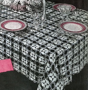 Crystal Web Tablecloth Pattern #7189