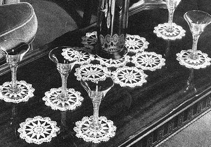 Cocktail Circles Beverage Set Pattern #7190A