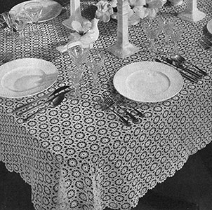 Snowdrift Tablecloth Pattern #7193
