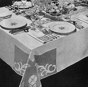 Dinner at Eight Tablecloth Pattern #7196