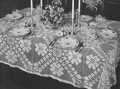 Trellis of Flowers Tablecloth Pattern #7200