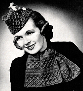 Glengarry Scarf & Hat Set Pattern #2389