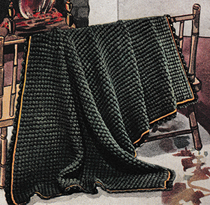 Green Pastures Afghan Pattern #6001