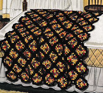 Carnival Granny Afghan Pattern #676