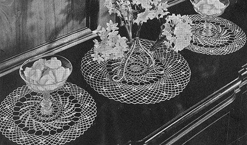 Monticello Doily Set Pattern #7254