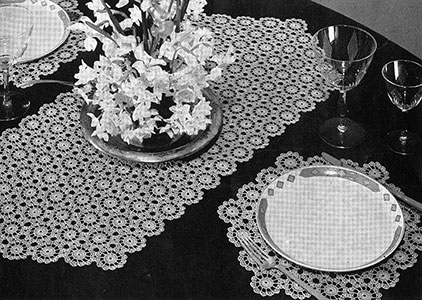 Snowdrift Luncheon Set Pattern #7266