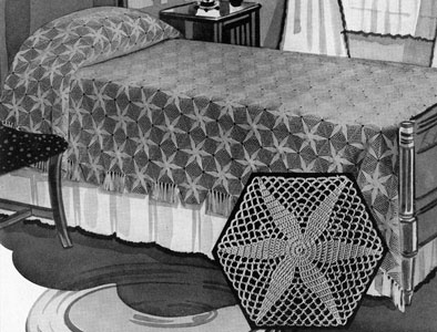 Radiant Star Bedspread Pattern