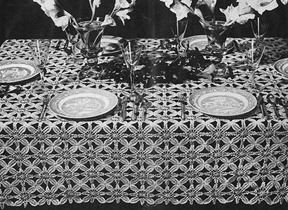 Invitation Tablecloth Pattern #7192
