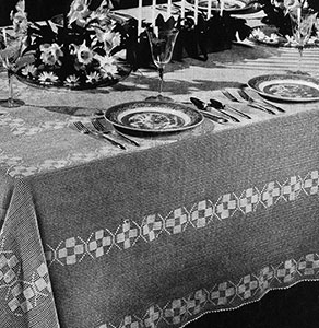 Patrician Tablecloth Pattern #7278