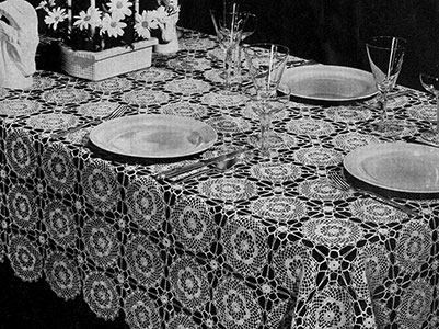 Lady Baltimore Tablecloth Pattern #7296