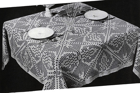 Table For Two Tablecloth Pattern #7239
