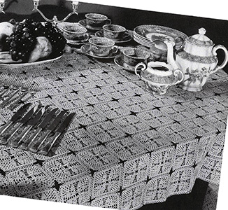 Horn of Plenty Tablecloth Pattern #7330