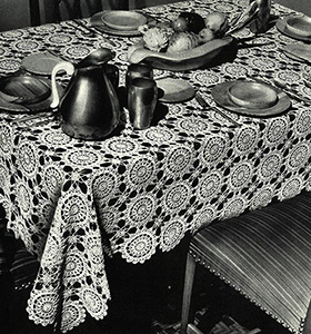 Lady Bountiful Tablecloth Pattern #7332