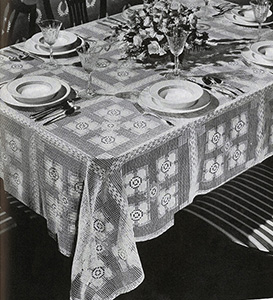 New Love Tablecloth Pattern #7333