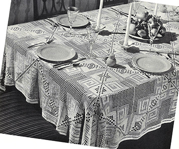 Penthouse Tablecloth Pattern #7334