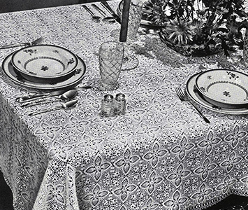 Heart's Desire Tablecloth Pattern #7338