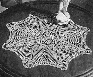 Star of India Doily Pattern #7365