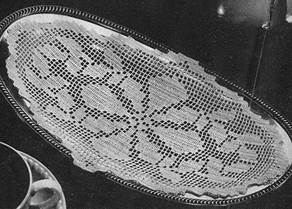 Bread Tray Doily Pattern #7396
