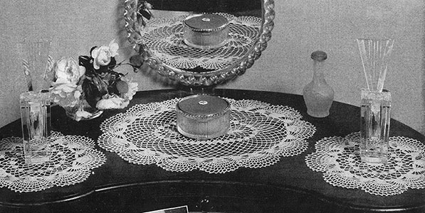 Vanity Fair Doily Set Pattern #7406