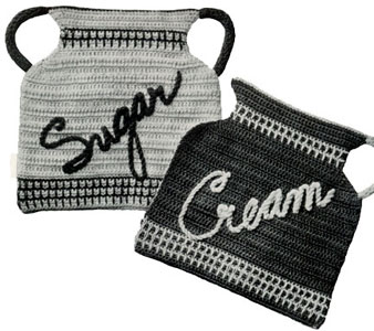 Sugar and Cream Potholders Pattern