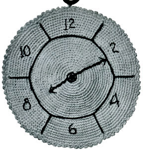 Clock Potholder Pattern