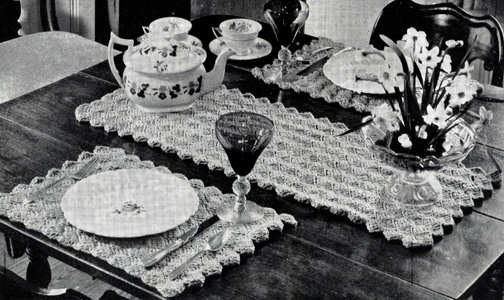 Wildfire Luncheon Set Pattern #7434