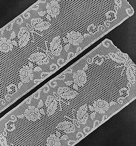 Butterfly and Rose Runner and Chair Set Pattern #7520