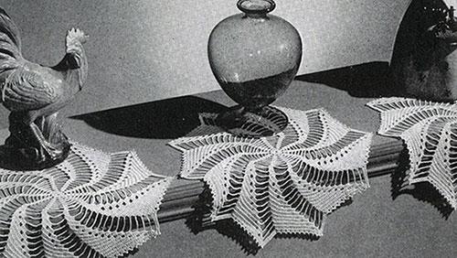 Pinwheel Trio Doily Pattern #7523