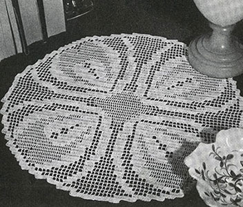 Heart's Ease Doily Pattern #7549