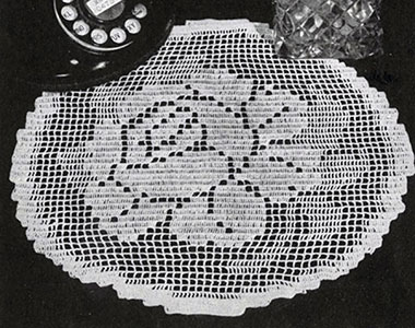 Rose o' Summer Doily Pattern #7553